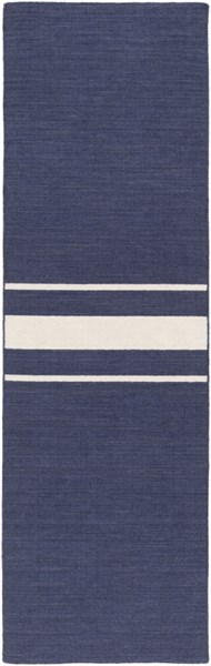 Colton Contemporary Navy Ivory Wool Runner (L 96 X W 30) COL6001-268