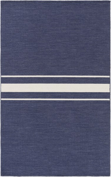 Colton Contemporary Navy Ivory Wool Area Rug (L 96 X W 60) COL6001-58
