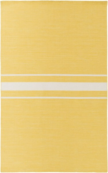 Colton Contemporary Gold Ivory Wool Area Rug (L 96 X W 60) COL6002-58