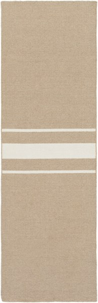 Colton Contemporary Taupe Ivory Wool Runner (L 96 X W 30) COL6003-268