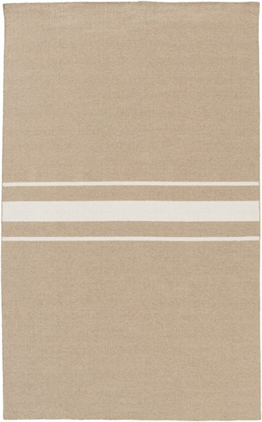 Colton Contemporary Taupe Ivory Wool Area Rug (L 96 X W 60) COL6003-58
