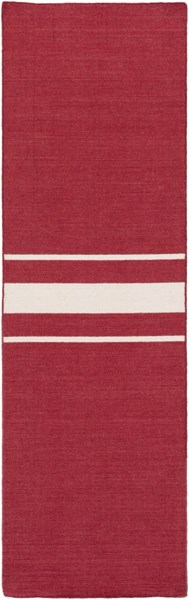 Colton Contemporary Cherry Ivory Wool Runner (L 96 X W 30) COL6004-268