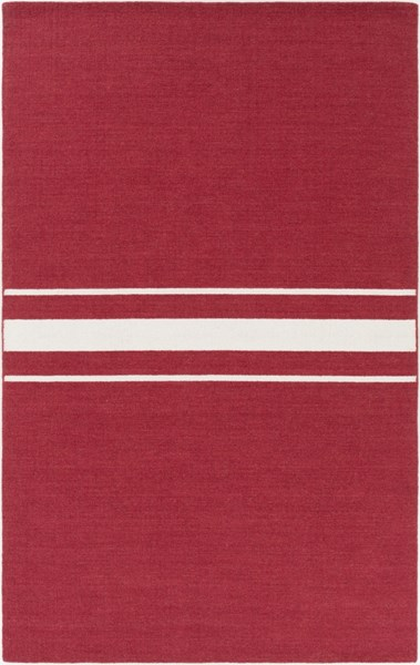 Colton Contemporary Cherry Ivory Wool Area Rug (L 96 X W 60) COL6004-58