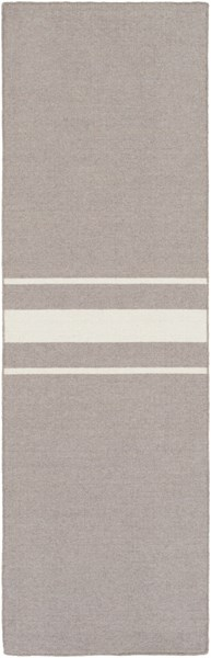 Colton Contemporary Ivory Taupe Wool Runner (L 96 X W 30) COL6005-268
