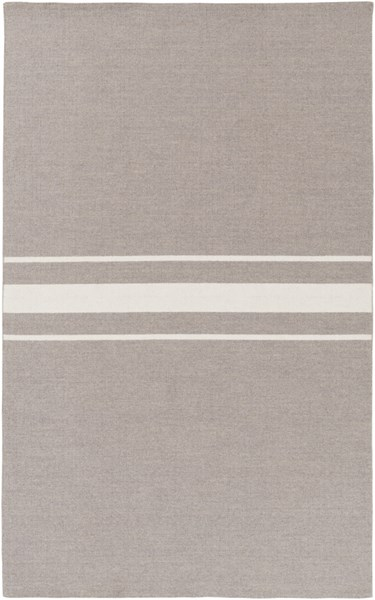 Colton Contemporary Ivory Taupe Wool Area Rug (L 96 X W 60) COL6005-58