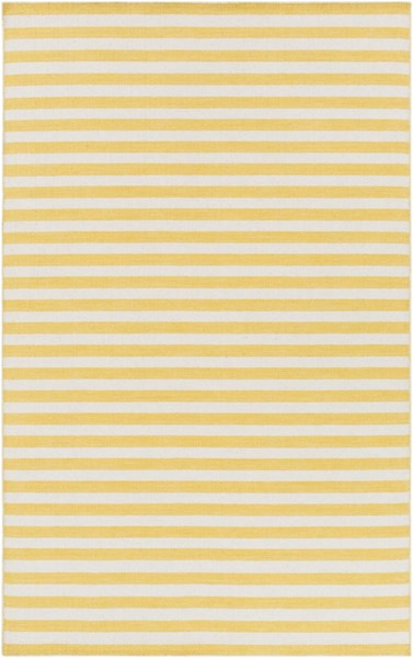 Colton Contemporary Sunflower Ivory Wool Area Rug (L 96 X W 60) COL6006-58