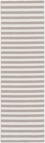 Colton Contemporary Light Gray Ivory Wool Runner (L 96 X W 30) COL6008-268