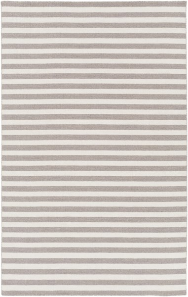 Colton Contemporary Light Gray Ivory Wool Area Rug (L 96 X W 60) COL6008-58