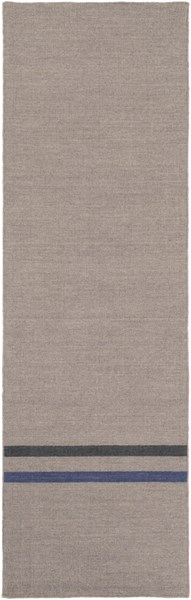Colton Contemporary Light Gray Cobalt Black Wool Runner (L 96 X W 30) COL6012-268