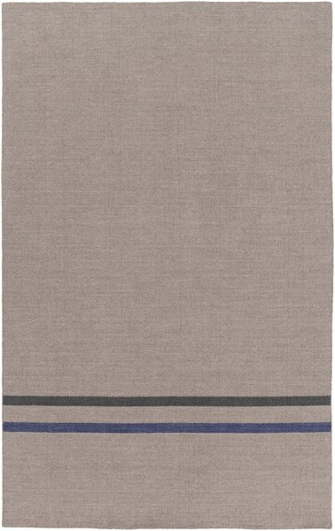Colton Light Gray Cobalt Black Wool Area Rug (L 96 X W 60) COL6012-58