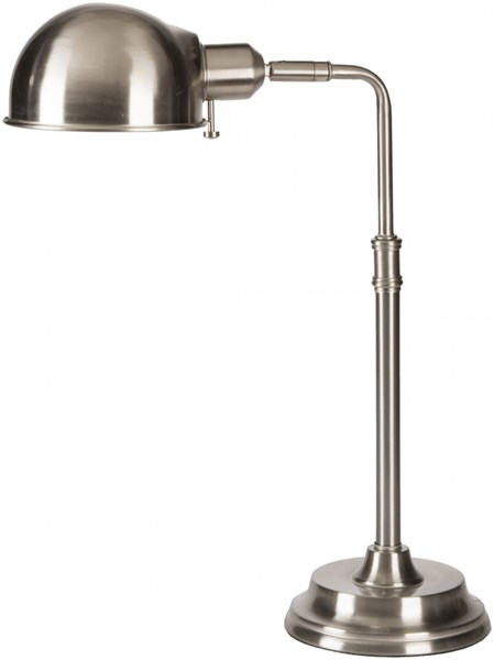 Colton Contemporary Brushed Steel Metal Table Lamp (W 6 X H 18.5) COLP-003
