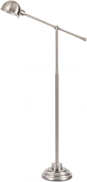 Colton Contemporary Brushed Steel Metal Floor Lamp (W 9 X H 51)  COLP-004