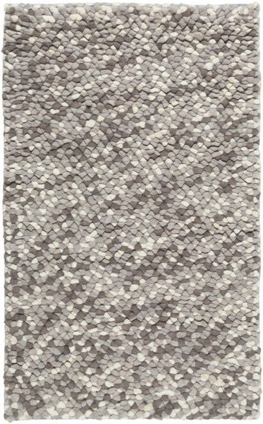 Confetti Modern Light Gray Charcoal Wool Area Rugs 914-VAR1