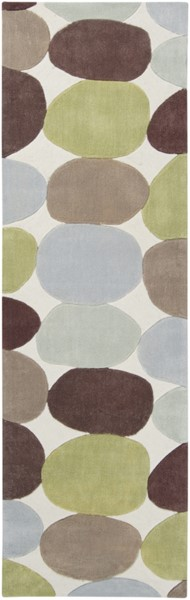 Cosmopolitan Lime Taupe Light Gray Polyester Runner (L 96 X W 30) COS8809-268
