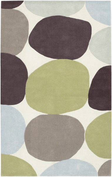 Cosmopolitan Lime Taupe Light Gray Polyester Area Rug (L 96 X W 60) COS8809-58