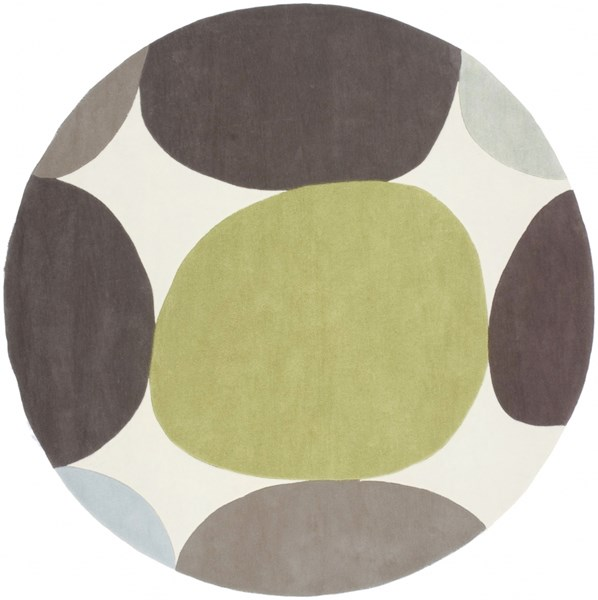 Cosmopolitan Lime Taupe Light Gray Polyester Area Rug (L 96 X W 96) COS8809-8RD