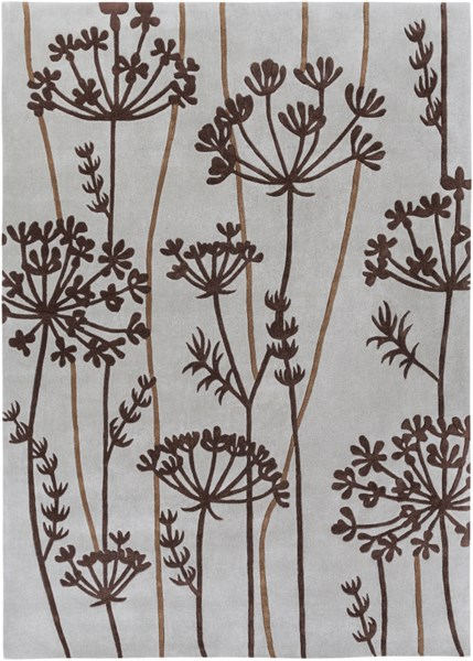 Cosmopolitan Gray Chocolate Olive Polyester Area Rug (L 132 X W 96) COS8812-811
