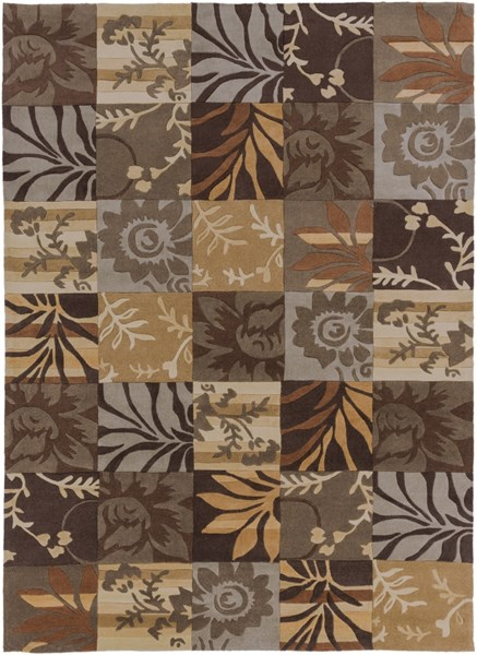 Cosmopolitan Chocolate Olive Beige Polyester Area Rug (L 132 X W 96) COS8817-811