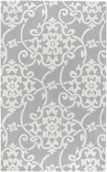 Cosmopolitan Mint Light Gray Ivory Polyester Area Rug (L 96 X W 60) COS8828-58