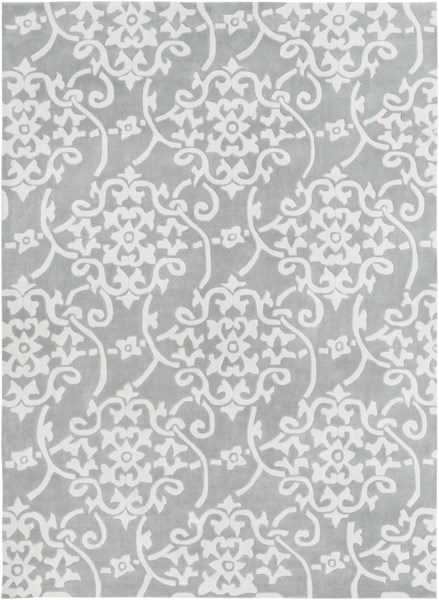 Cosmopolitan Mint Light Gray Ivory Polyester Area Rug (L 132 X W 96) COS8828-811