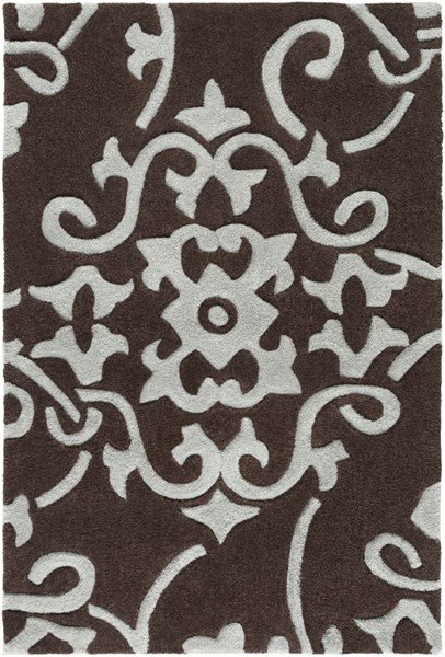Cosmopolitan Light Gray Chocolate Polyester Area Rug (L 36 X W 24) COS8829-23