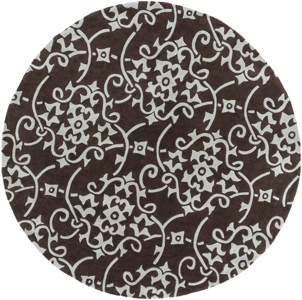 Cosmopolitan Light Gray Chocolate Polyester Area Rug (L 96 X W 96) COS8829-8RD