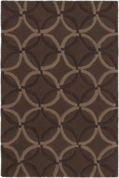 Cosmopolitan Contemporary Taupe Chocolate Beige Polyester Area Rugs 197-VAR1