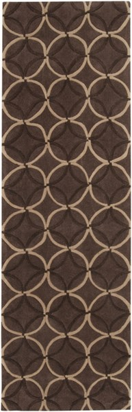 Cosmopolitan Taupe Chocolate Beige Polyester Runner (L 96 X W 30) COS8868-268