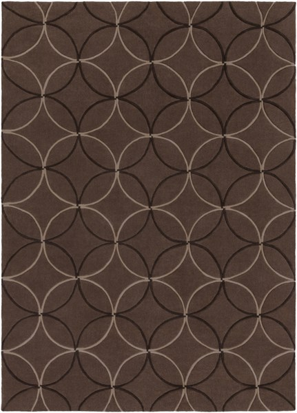 Cosmopolitan Taupe Chocolate Beige Polyester Area Rug (L 132 X W 96) COS8868-811