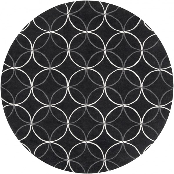 Surya Cosmopolitan Black Light Gray Polyester Round Area Rug - 96x96 COS8872-8RD