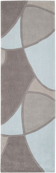 Cosmopolitan Sky Blue Light Gray Taupe Polyester Runner (L 96 X W 30) COS8888-268