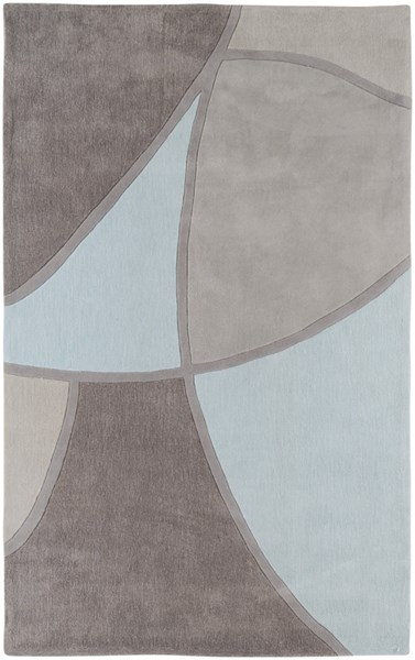Cosmopolitan Sky Blue Gray Taupe Polyester Area Rug (L 96 X W 60) COS8888-58