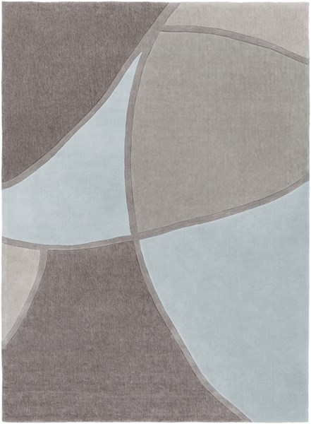 Cosmopolitan Sky Blue Gray Taupe Polyester Area Rug (L 132 X W 96) COS8888-811