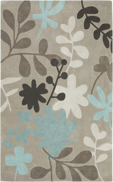 Cosmopolitan Taupe Ivory Teal Polyester Area Rug (L 96 X W 60) COS8924-58