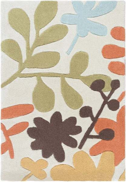 Cosmopolitan Light Gray Rust Gold Polyester Area Rug (L 36 X W 24) COS8926-23