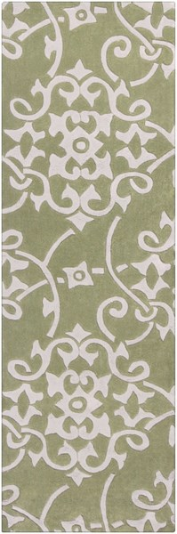 Cosmopolitan Olive Light Gray Polyester Runner (L 96 X W 30) COS9047-268