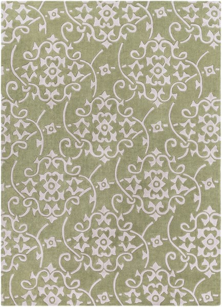 Cosmopolitan Olive Light Gray Polyester Area Rug (L 132 X W 96) COS9047-811