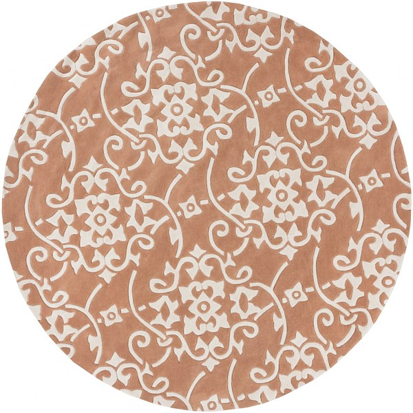 Cosmopolitan Contemporary Rust Beige Polyester Area Rug (L 96 X W 96) COS9050-8RD