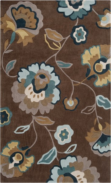 Cosmopolitan Chocolate Olive Forest Polyester Area Rug (L 96 X W 60) COS9090-58