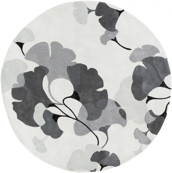 Cosmopolitan Ivory Light Gray Moss Polyester Area Rug (L 96 X W 96) COS9172-8RD