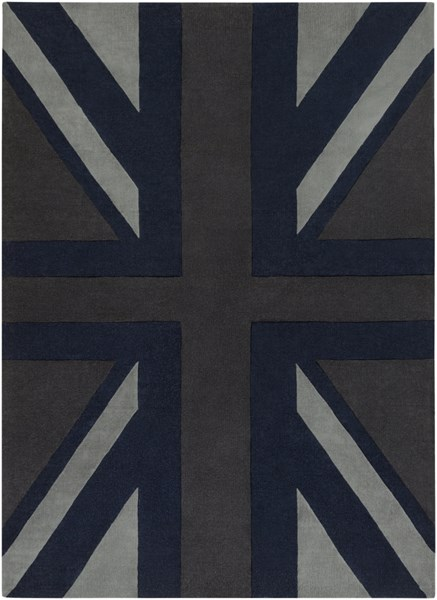 Cosmopolitan Charcoal Navy Gray Polyester Area Rug (L 132 X W 96) COS9184-811