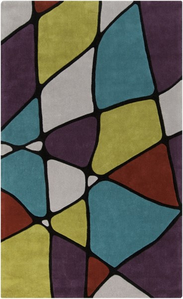 Cosmopolitan Moss Teal Eggplant Polyester Area Rug (L 96 X W 60) COS9185-58