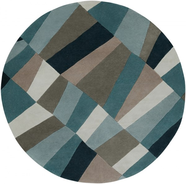 Cosmopolitan Teal Moss Sea Foam Polyester Round Area Rug (L 96 X W 96) COS9187-8RD