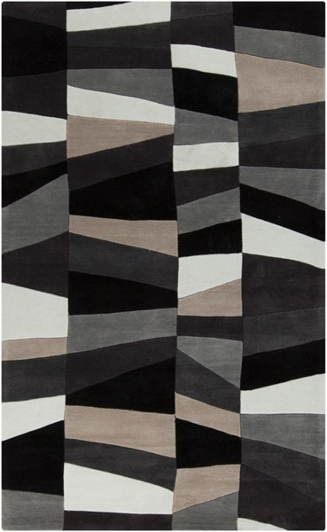 Cosmopolitan Gray Charcoal Black Polyester Area Rug (L 96 X W 60) COS9188-58