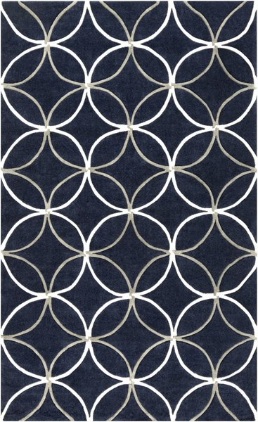 Cosmopolitan Gray Navy Ivory Polyester Area Rug (L 96 X W 60) COS9190-58