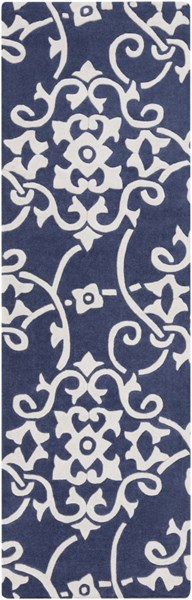 Cosmopolitan Contemporary Navy Ivory Polyester Runner (L 96 X W 30) COS9201-268