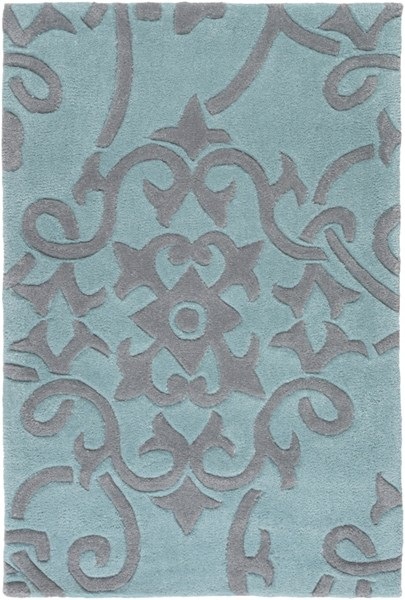 Cosmopolitan Contemporary Teal Slate Polyester Area Rug (L 36 X W 24) COS9202-23