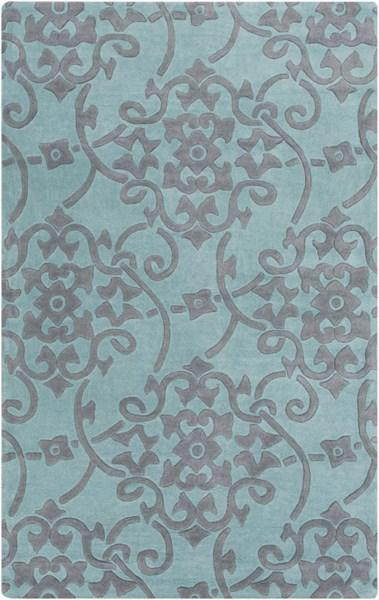 Cosmopolitan Contemporary Teal Slate Polyester Area Rug (L 96 X W 60) COS9202-58