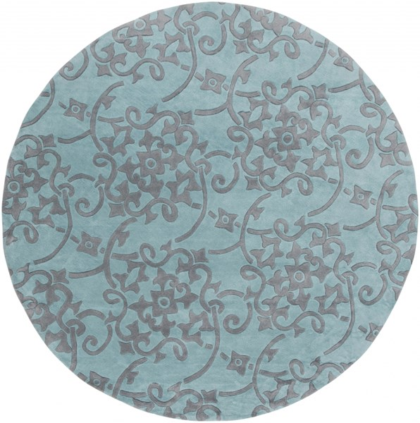 Cosmopolitan Contemporary Teal Slate Polyester Area Rug (L 96 X W 96) COS9202-8RD