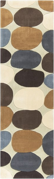 Cosmopolitan Beige Chocolate Gold Polyester Runner (L 96 X W 30) COS9203-268